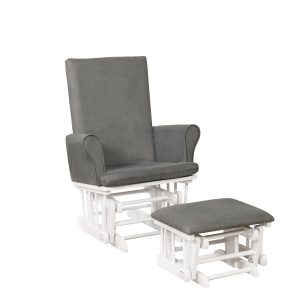Naomi Home Mateo Wood & Upholstered Glider and Ottoman Set