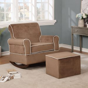 Naomi Home Georgia Rocker and Ottoman Set