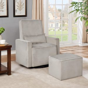Lorraine Swivel Glider and Ottoman Set