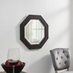 Naomi Home Octagon Wall Mirror with Metal Bezel