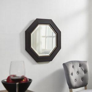 Naomi Home Octagon Wall Mirror with Metal Bezel