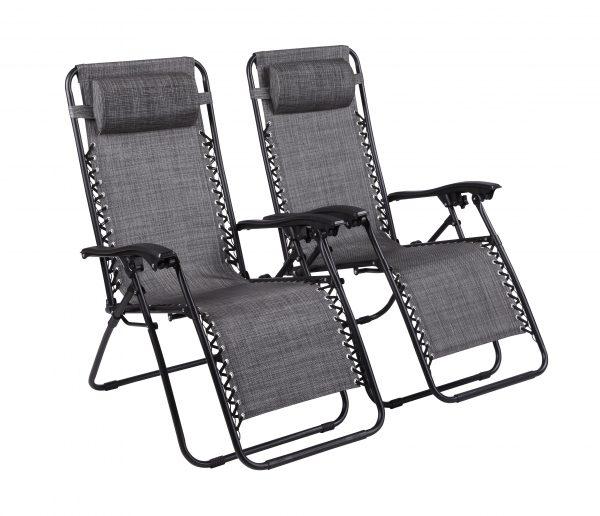 Naomi Home Zero Gravity Chairs – Set of 2, Man Cave Furniture