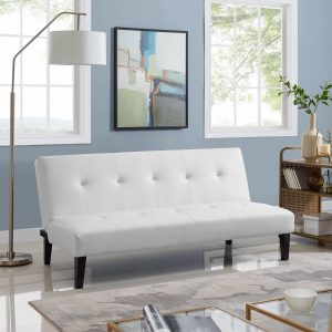 Naomi Home Button Tufted Futon Sofa Bed