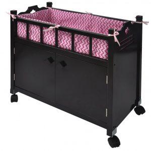 Naomi Home Kids Doll Crib with Storage