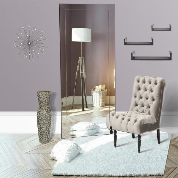 beveled floor length mirror