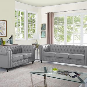 Naomi Home Emery Chesterfield Love Seat & Sofa