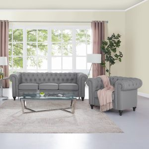 Naomi Home Emery Chesterfield Sofa & Accent Chair