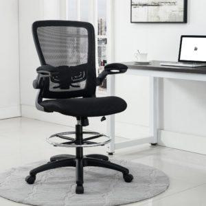 Naomi Home Serena Mid-Back Adjustable Drafting Chair