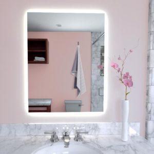 Naomi Home LED Lighted Bathroom Wall Mounted Mirror