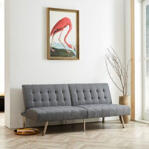 Naomi Home Tufted Split Back Futon Sofa