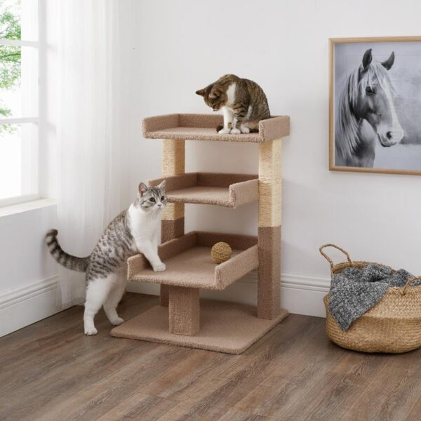 Cat tower choices for a healthy and good-humored feline; Naomi Home Nala Triple Cat Tower