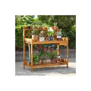 Naomi Home Leilani Wooden 3 Tier Flower Pot Shelf