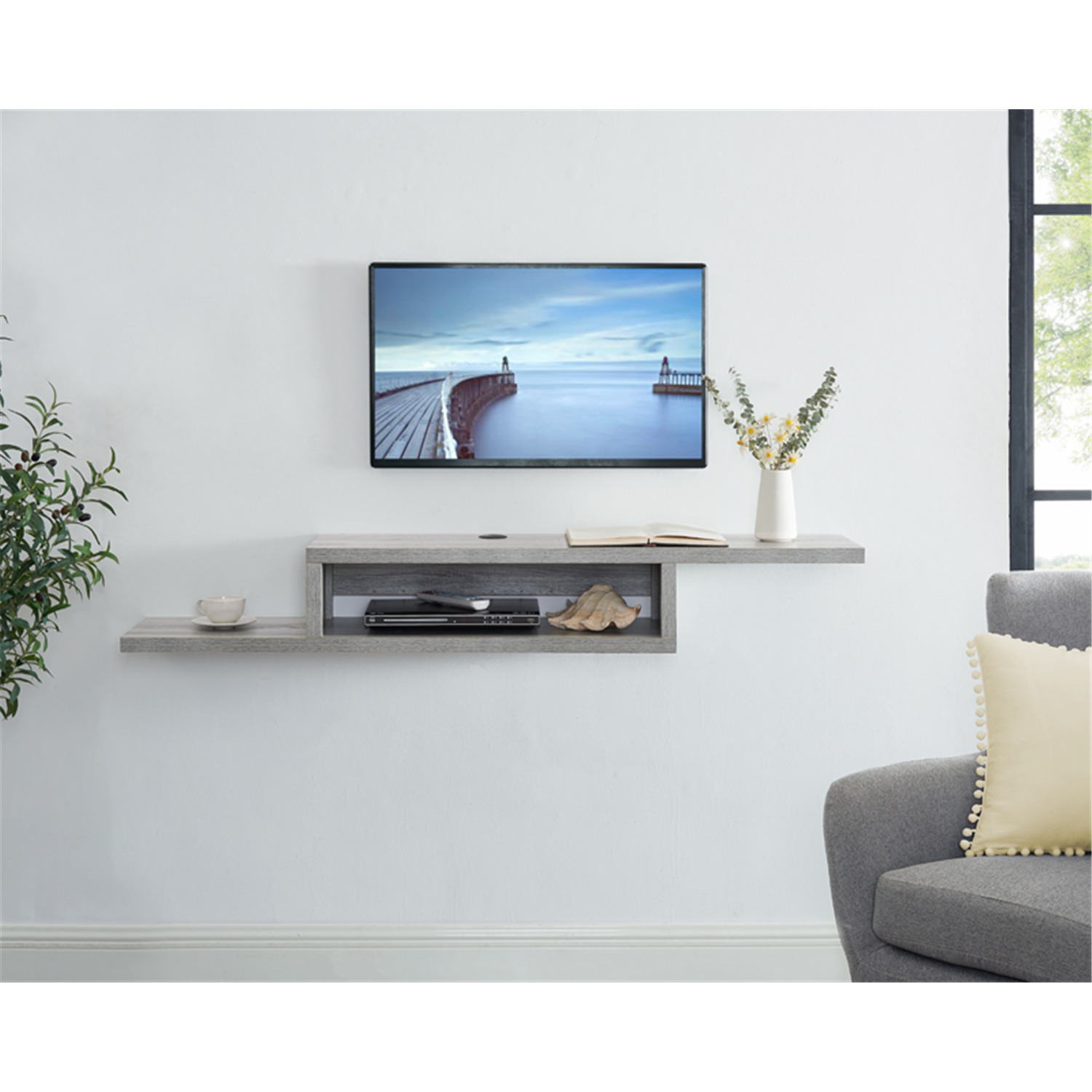 Naomi Home Athena Wall Mounted Floating TV Stand for 65″ TV