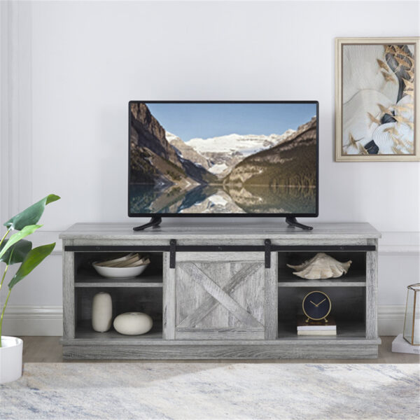 """Naomi Home Shelby Sliding Barn Door TV Stand for 50"""" TV with Storage Shelf"""