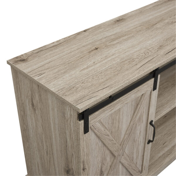 """Naomi Home Rylee Farmhouse Style 60"""" TV Console Cabinet With Sliding Barn Doors"""