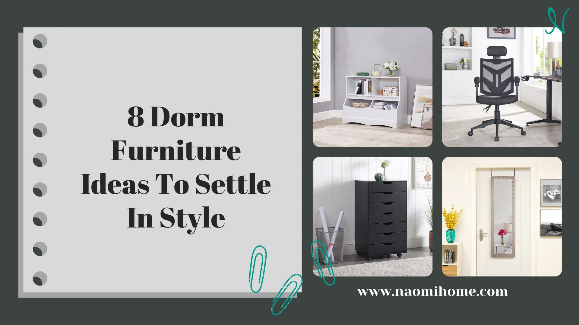 8 Dorm Furniture Ideas To Settle In Style